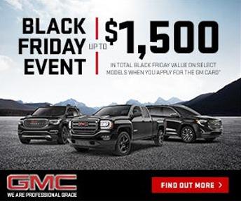 GMC Black Friday Event