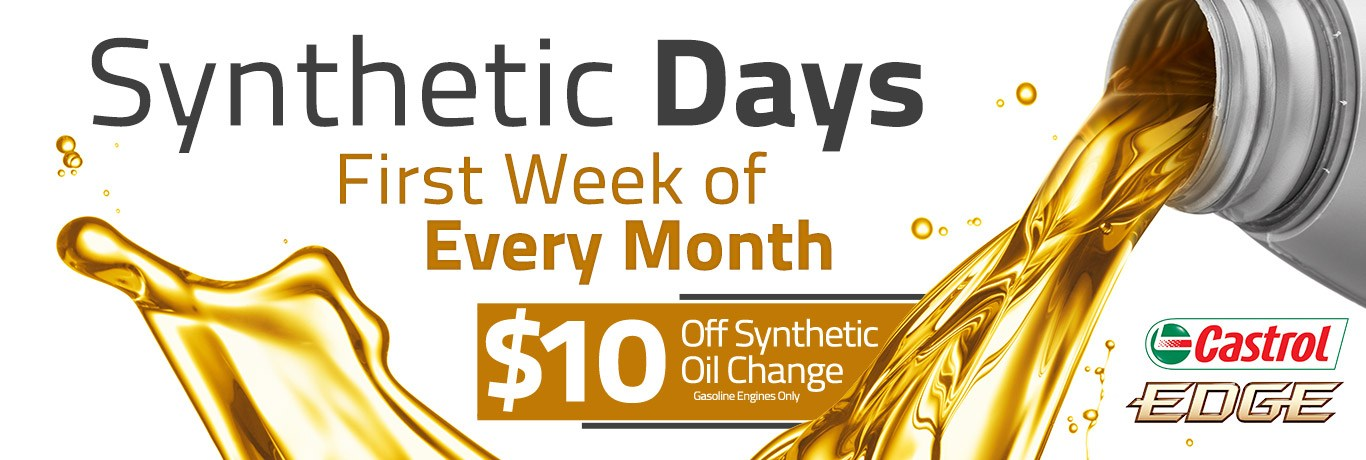 Synthetic Days Oil Change Medicine Hat