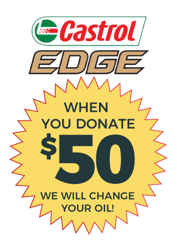 Donate $50 for an Oil Change